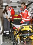 Steffen Anderlohr 00646 (07/2016) MTB, 20. Keiler Bike Marathon in Wombach  (16.07.2016) EIn Rettungswagen des Roten Kreuzes wird für den nächsten EInsatz vorbereitet.