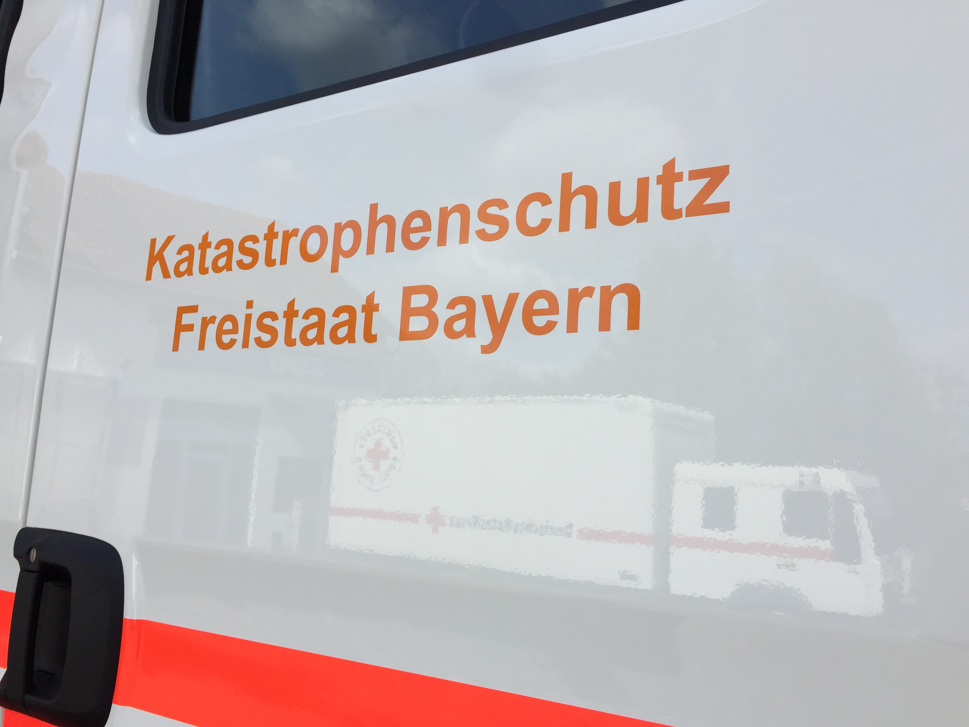 Finanziert vom Freistaat Bayern für den Kathastrophenschutz